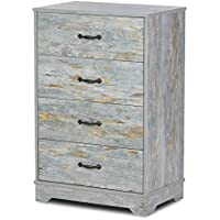 DEVAISE 4-Drawer Chest Wood Dresser for Home & Office