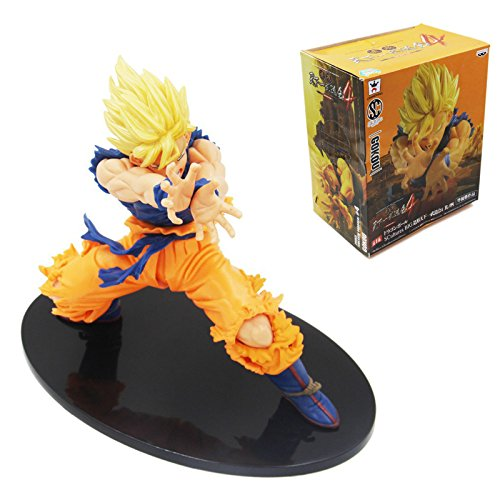 [tongrou Anime DragonBall Z Son Goku PVC Figure Toy Statue Figurine Collection New In Box] (4 Star Dragonball Costume Color)