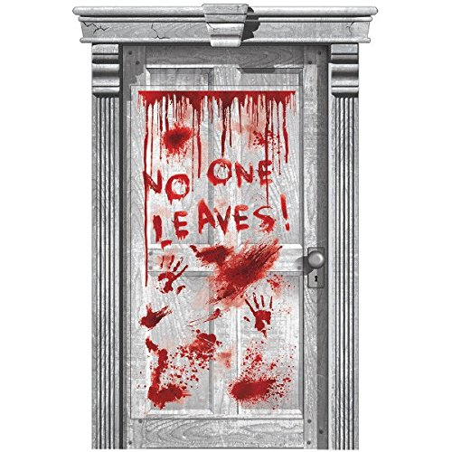 Asylum Dripping Blood Door Cover | Halloween Decoration]()