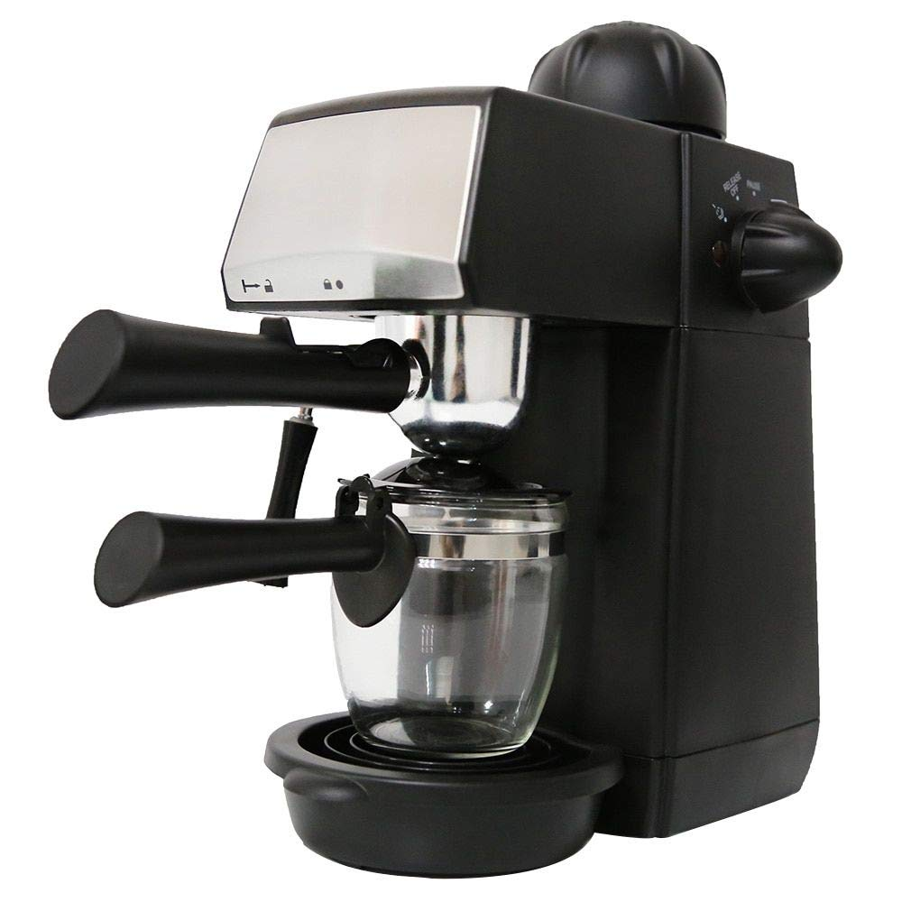 MTM Specialties 240ml SW-CRM2001 Espresso Coffee Machine - Semi-Automatic Steam Type - Features Pause Function and Overheat & Overvoltage Protection