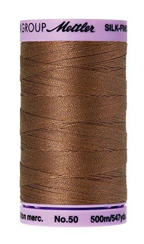 Mettler Silk-Finish Solid Cotton Thread, 547 yd/500m, Hazelnut