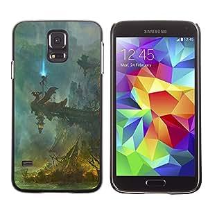Caucho caso de Shell duro de la cubierta de accesorios de protección BY RAYDREAMMM - Samsung Galaxy S5 - Fantasía Templo