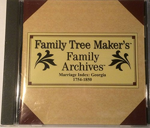 1850 Server - Family Tree Maker's Family Achives Marriage Index: Georgia 1754-1850, CD #226