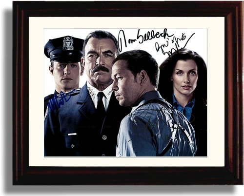 Framed Blue Bloods Autograph Replica Print - Cast Signed