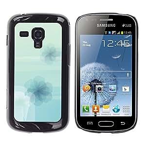 TECHCASE**Cubierta de la caja de protección la piel dura para el ** Samsung Galaxy S Duos S7562 ** Flowers Wallpaper Light Blue Sky Nature