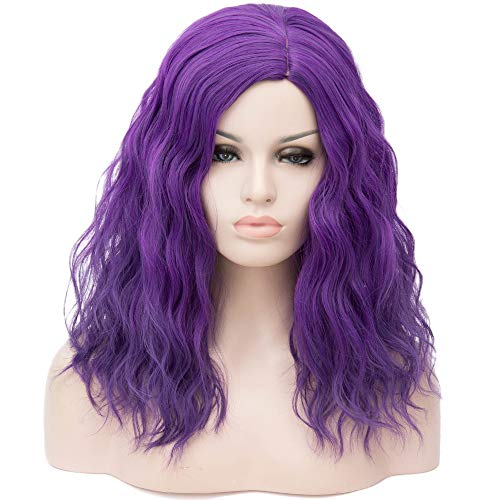 Mildiso Short Purple Wigs for Women Full Synthetic Hair Pastel Cosplay Party Wigs Natural as Real Hair M068PR -