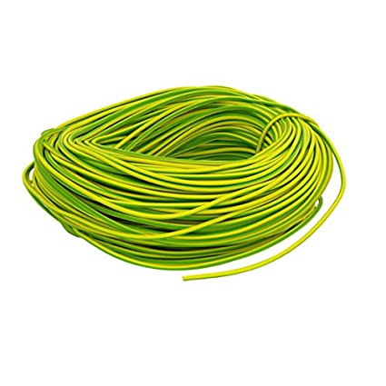 GREEN//YELLOW PVC EARTH SLEEVING 3MM WIRE CABLE FLEXIBLE 5M