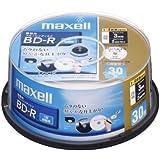 maxell 録画用ブルーレイディスク BD-R 130分 (1~4倍速対応) インクジェットプリンター対 BR25VFWPB.30SP