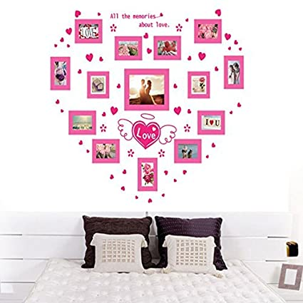 Amazon.com: Large DIY Photo Frame Wall Stickers Gallery Decal Decor ...