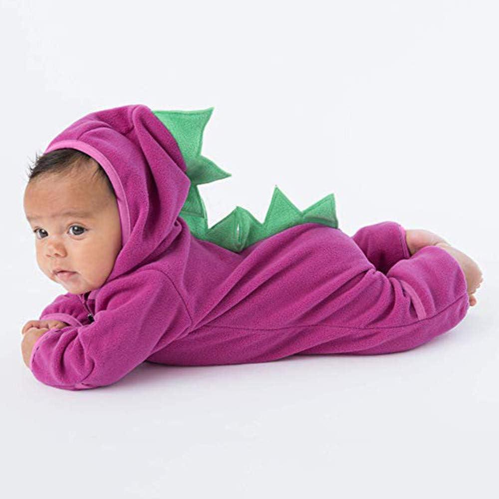 Baby Hoodie Romper,Vanvler Girls Boys Cartoon Ears Bunting Onesie Jacket Infant Toddler Zip Jumpsuit