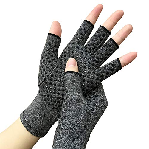 Arthritis Compression Gloves For Women And Men -Copper Fit Arthritis Pain Relief Hand Warmers Carpal Tunnel Relief Fingerless Design Arthritis Gloves  ()