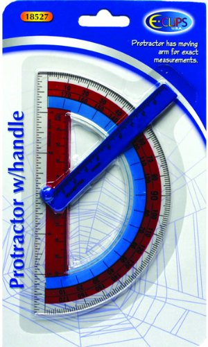 Protractor - 6'' with rotating arm, 60 pcs sku# 1284657MA by DDI (Image #1)