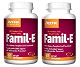 Jarrow Formulas Famil-E Featuring All 8 Members of The Vitamin E Family Rich in Gamma Tocopherol and Tocotrienols, Providing Antioxidant and Cardiovascular Support (60 Softgels) Pack of 2