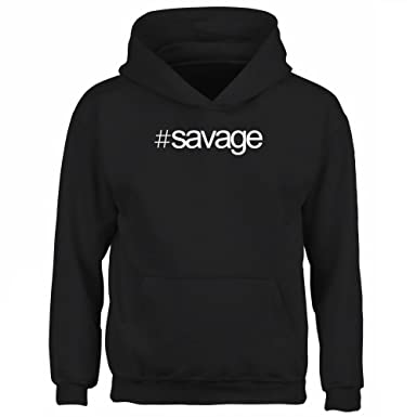 Idakoos Hashtag Savage - Apellidos - Sudadera con capucha para niño: Amazon.es: Ropa y accesorios