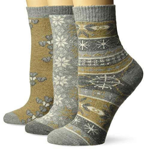 MUK LUKS Womens 3 Pair Pack Holiday Boot Socks