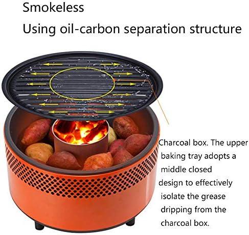 Gril électrique Multifonction Barbecue sans fumée Grill Barbecue au Charbon de Bois/pour Barbecue en Plein air Camping Remorquage Voyage Barbecue Outil