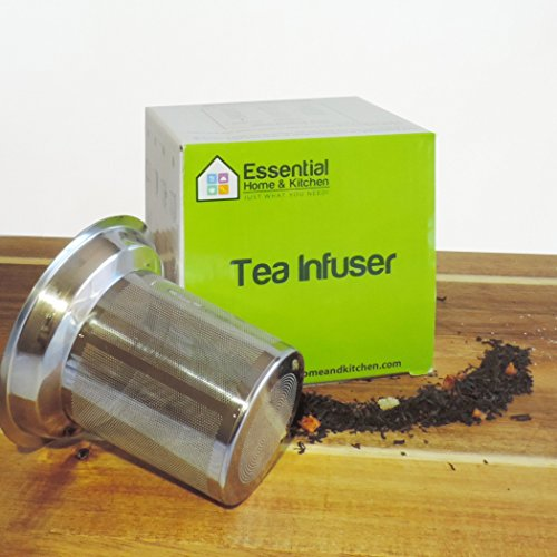 Best Loose Leaf Tea Infuser & Herbal Tea Steeper - Brews, Strains & Steeps Single Cup of Extra Fine Tea - Dishwasher Safe Silicone Top and Stainless Steel Tea Tumbler Basket & Infuser by Essential Home & Kitchen (Image #5)
