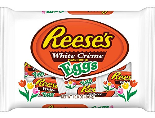 Reeses White Creme Peanut Butter Eggs, 10.8 oz, Easter Basket ()