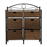 storage with baskets Iron/Wicker Storage Chest