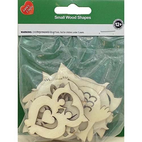 New Image Group Assorted Wood Shapes-Owl Pairs (8/pkg) (Craft Assorted Wood)