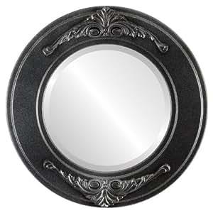 Ovalandroundmirrors com espejo redondo con cantos for Espejo redondo plateado