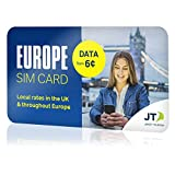 Telestial Europe SIM Card for Calls, Texts & Data in European Countries with $10.00 credit