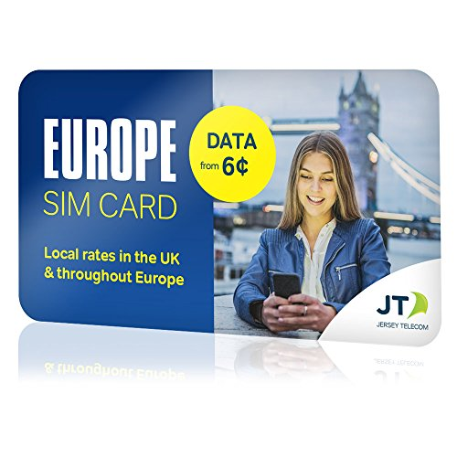 ekit Europe SIM Card for Calls, Texts & Data with $10.00 credit