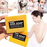 Instant Miracle AHA Whitening Soap,Stcorps7 Skin Bleaching Soap, Skin Lightening Soap For Hyperpigmentation, Dark Spots, Sun Damage, Uneven Skin Tone, Handmade Soap (1pc.)