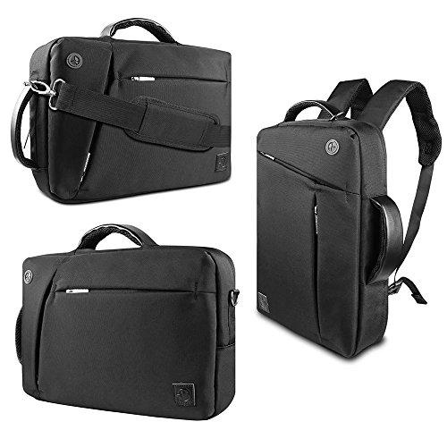 10.1' Laptop - VanGoddy 3 in 1 Shoulder Bag Backpack and Messenger Bag for Lenovo Tab 2/Yoga 2/ThinkPad 10 2/Folder Pad/IdeaPad Miix 300-10 10.1'' Tablet(Black)
