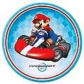 Super Mario Bros. Mario Kart Birthday Party Supplies 48 Pack Lunch Plates
