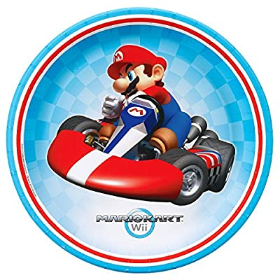 Super Mario Bros. Mario Kart Birthday Party Supplies 48 Pack Lunch Plates