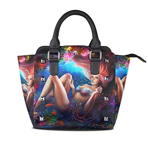 DragonSwordlinsu , Sac pour femme à porter à l'épaule multicolore Medium