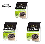 Big Green BlackSoil Organic Black Rice  Pack of 3 Non-GMO/Kosher/Gluten-Free 3 lbs
