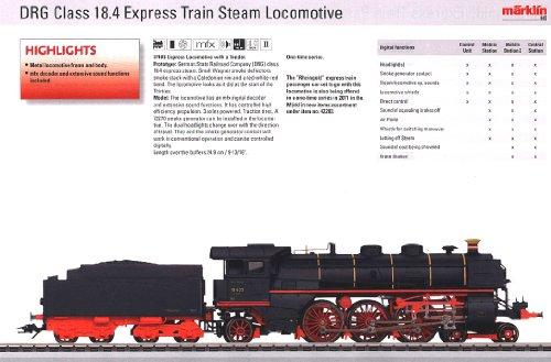 2011 Qtr.3 Digital DRG cl 18.4 Express Locomotive with Tender (L) (HO - Express Trix