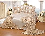 120 quilt backing - Octorose Royalty Oversize Wedding Bedding Bedspread Quilts Set (Cream, King/CalKing)