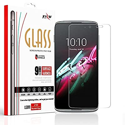 Zizo Tempered Glass Screen Protector for Alcatel Idol 4 [Anti-Scratch] 9H Hardness [0.33 MM Thickness] Clear Screen Guard