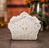 Sorive® 50x Laser Cut Wedding Favor Boxes Wedding Candy Box Casamento Wedding Favors And Gifts event party supplies (White)