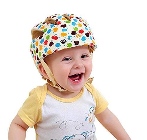 Infant Baby Toddler Safety Helmet Kids Head Protection Hat for Biking Walking Crawling Baby Children Infant Adjustable Safety Helmet Headguard Protective Harnesses Cap - Color