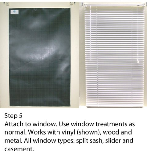 Blackout EZ - Total Sunlight Blocking Window Cover - Complete Light Block For: Living Room, Nursery, Home Theatre, TV Room, LARGE - Customizable To (45'' x 66'') Black In/White Out - Made in USA by Blackout EZ (Image #9)