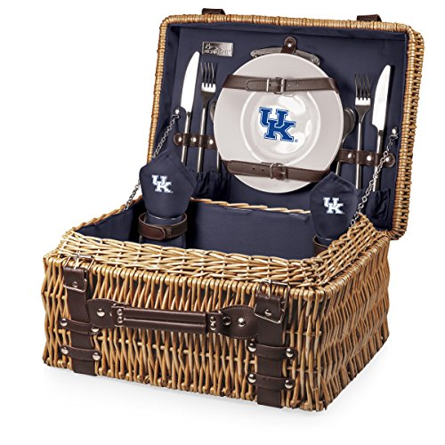 NCAA Kentucky Wildcats Champion Picnic Basket with Deluxe Service for Two, ()