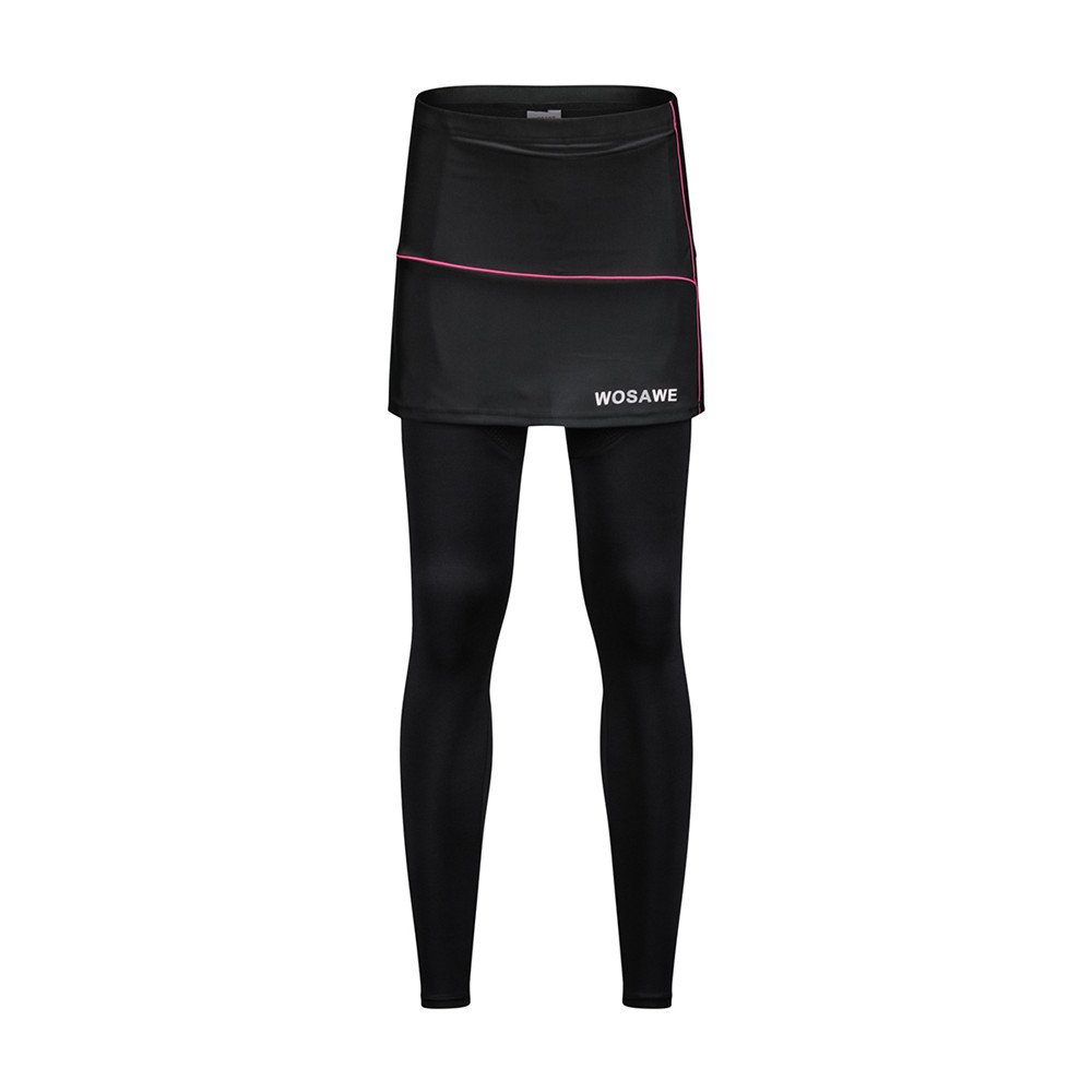 WOSAWE Women's Cycling Skirted Pants Bicycle Skort Compression Leggings