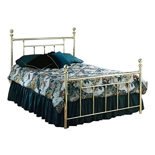 (BOWERY HILL King Metal Spindle Bed in Polished Brass )