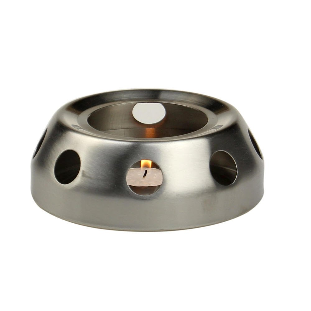Yeme Stainless Steel Candle Lit Teapot or Coffee Warmer Base (A)