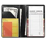 Mymazn Waiter Book Server Wallet Server Pads Waitress Book Restaurant Waitstaff Organizer, Guest Check Book Holder Money Pocket Fit Server Apron