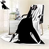 Digital Printing Blanket Man and Woman Partners Romantic Dance Tango Waltz rs Summer Quilt Comforter