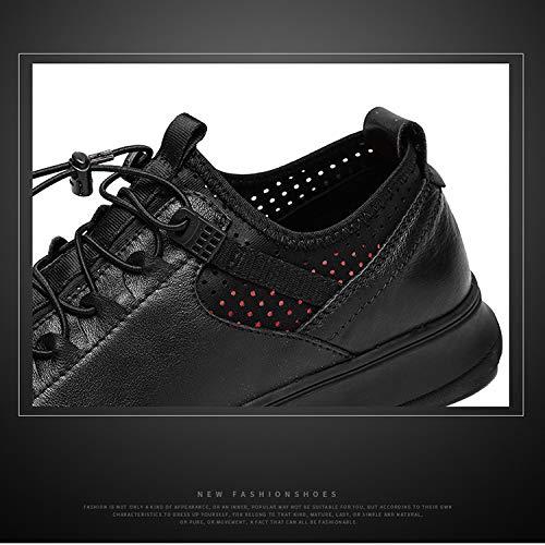 Cómoda Zapatos Pedal Casuales De Solo Hombres De Nuevos Zapatos Los Otoño Zapatos Zapatos Hombres Un YXLONG Los Conducción Cuero De Hueco De De blackmatteleather Salvajes ARFxwBq