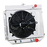 ford galaxie radiator - Primecooling 52MM 3 Row Core Aluminum Radiator +14