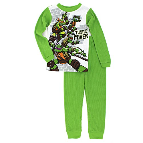 TMNT Ninja Turtles Boys Thermal Underwear Set (6) (Ninja Turtle Long Underwear)