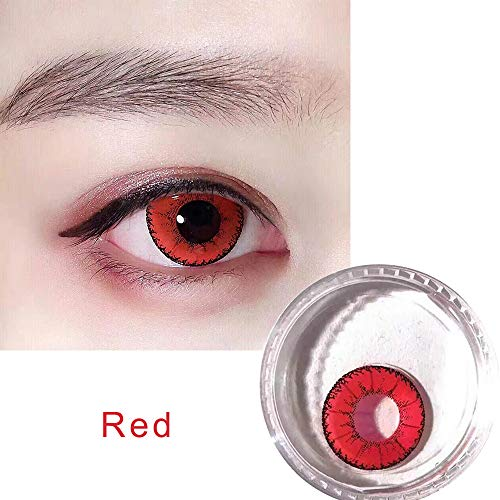 Man Women Multicolor Cosplay Colored Demon Contact Lenses Halloween for Eyes -