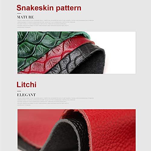 Pochette Pelle A Bauletto Yoome Top lichee Pattern Black Handle In Di Serpente Da Tracolla Bovina Donna Donne Borse 8x6wr6qE